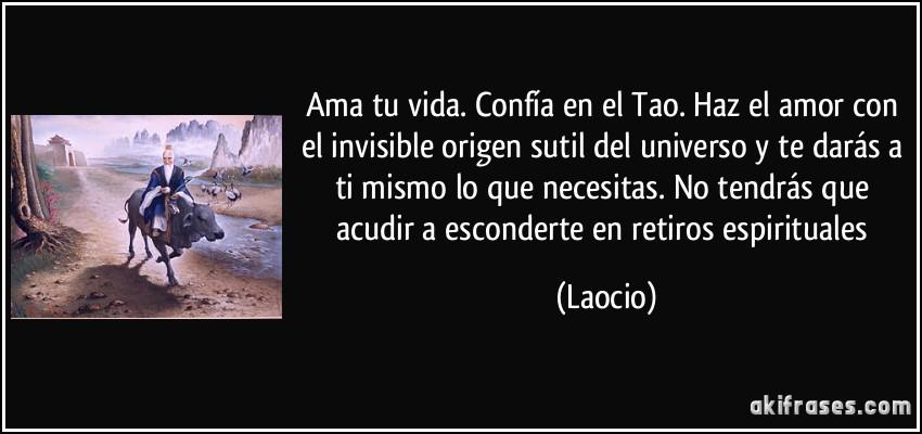 Ama Tu Vida Confía En El Tao Haz El Amor Con El Invisible
