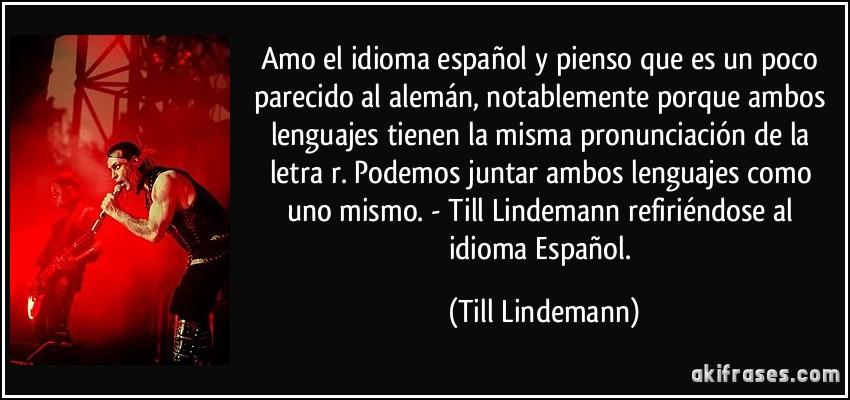 Amo El Idioma Español Y Pienso Que Es Un Poco Parecido Al