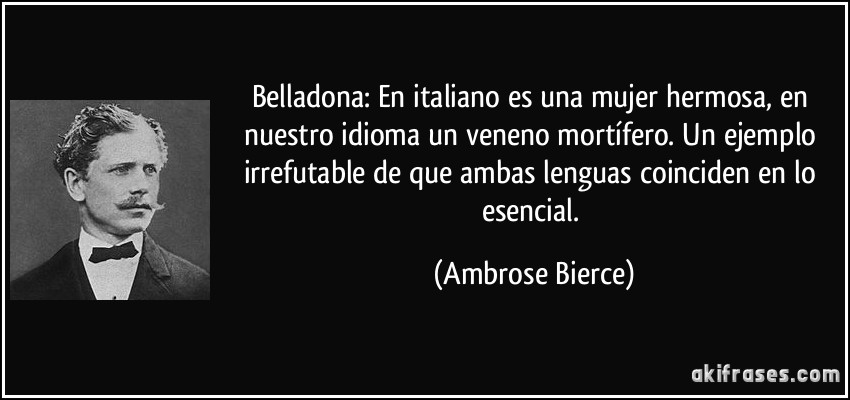 Belladona En Italiano Es Una Mujer Hermosa En Nuestro