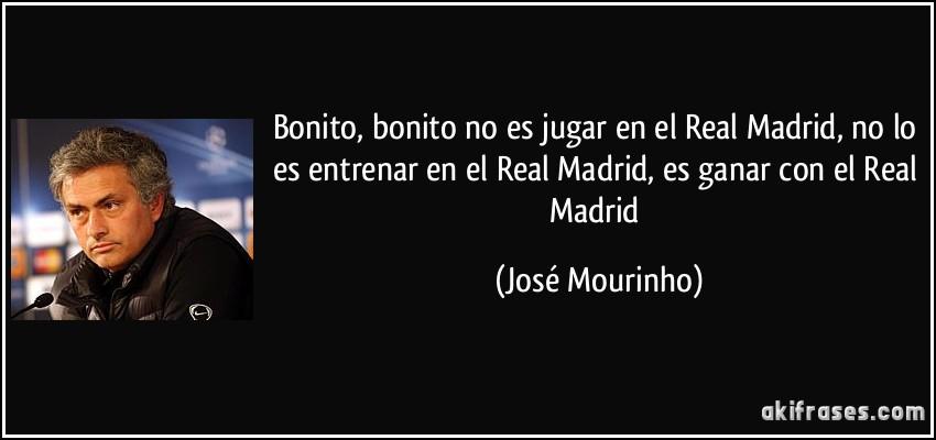 Bonito, bonito no es jugar en el Real Madrid, no lo es entrenar...