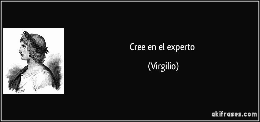Cree en el experto (Virgilio)