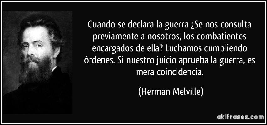 Frase de Herman Melville