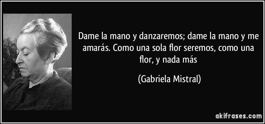 Dame La Mano Y Danzaremos Dame La Mano Y Me Amar U00e1s Como