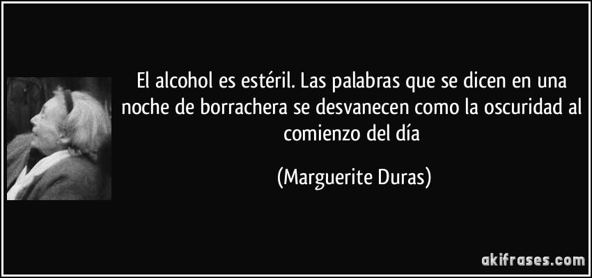 El Alcohol Es Estéril Las Palabras Que Se Dicen En Una Noche