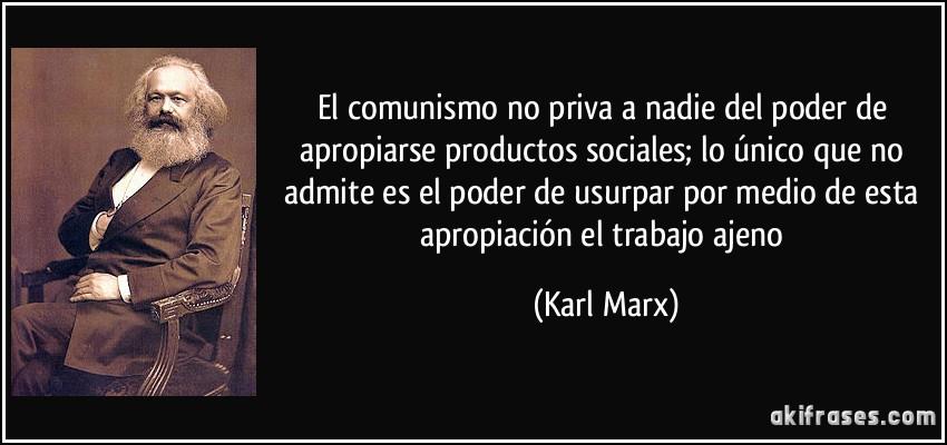 Resultado de imagen de comunismo no prohibe comprar bienes