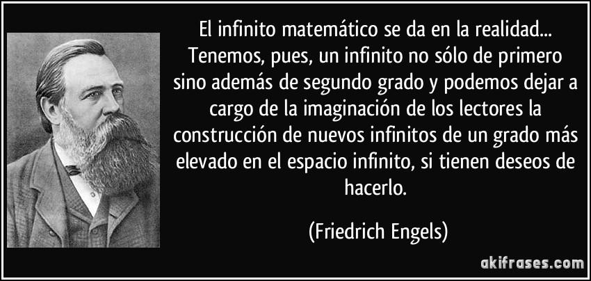 Amor Segundo Filósofos: El Infinito Matemático Se Da En La Realidad... Tenemos