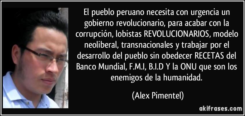 El Pueblo Peruano Necesita Con Urgencia Un Gobierno