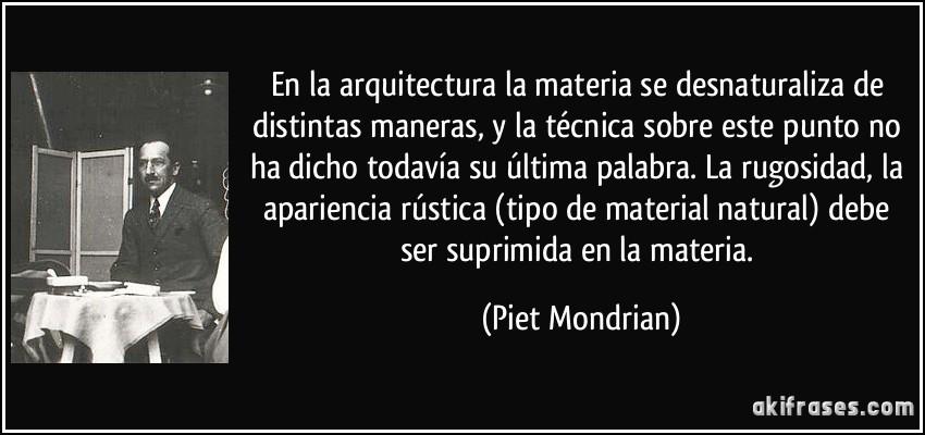 En la arquitectura la materia se desnaturaliza de distintas for Materias de la carrera arquitectura