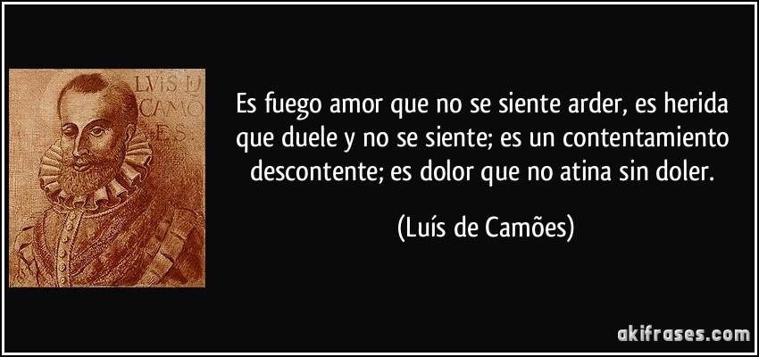 Luis de Camoes amor es fuego