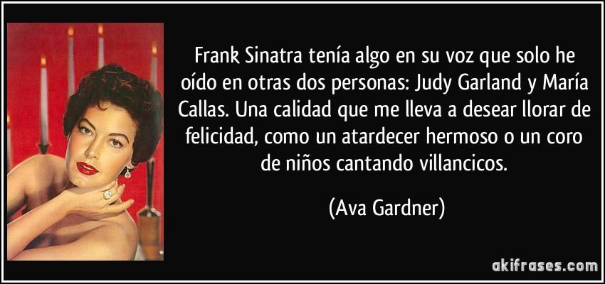 Frank Sinatra Tenía Algo En Su Voz Que Solo He Oído En Otras