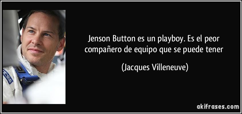 Jenson Button Es Un Playboy Es El Peor Compañero De Equipo