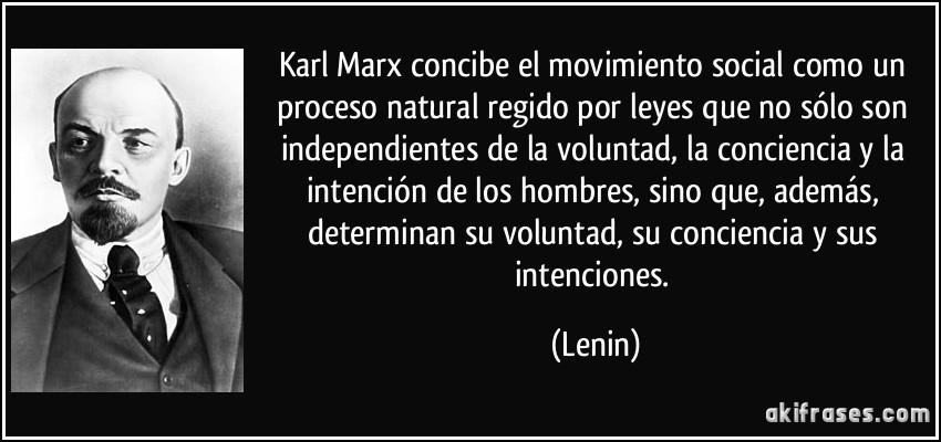 Karl Marx Concibe El Movimiento Social Como Un Proceso
