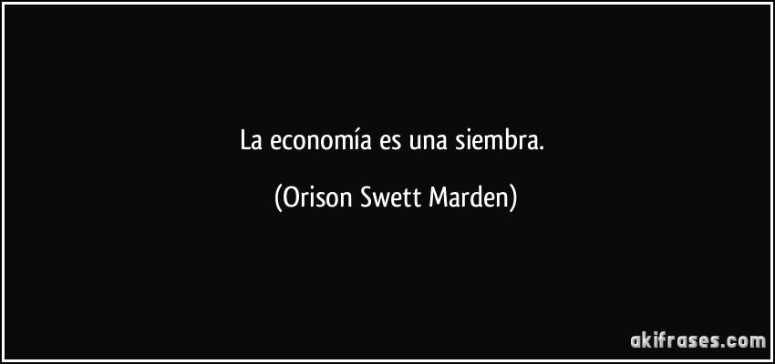 La Economía Es Una Siembra