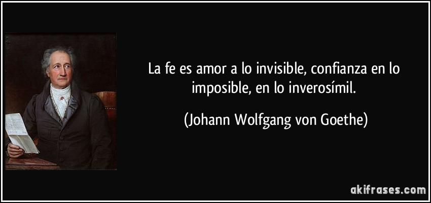 La Fe Es Amor A Lo Invisible Confianza En Lo Imposible En