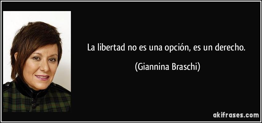 La Libertad No Es Una Opción Es Un Derecho