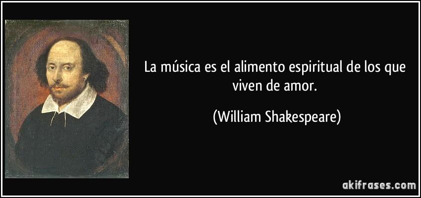 La Música Es El Alimento Espiritual De Los Que Viven De Amor