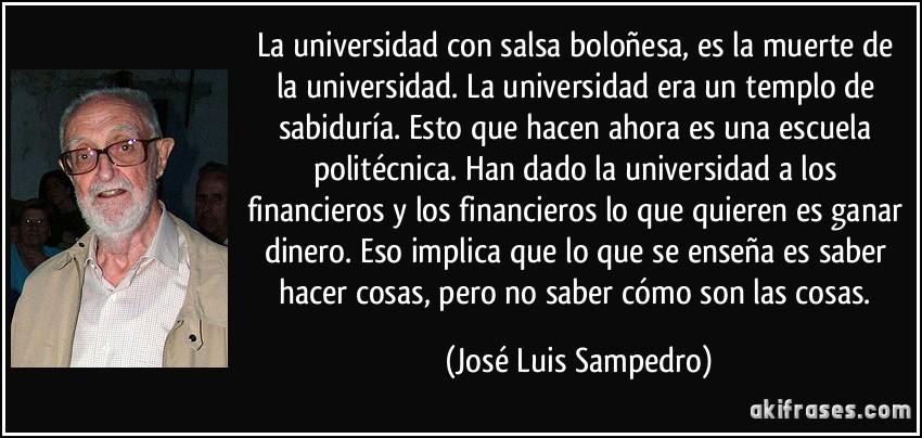 La Universidad Con Salsa Boloñesa Es La Muerte De La
