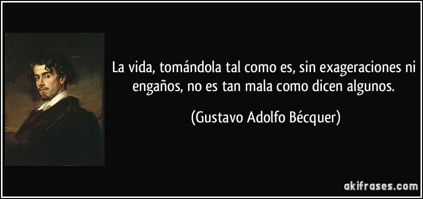 Gustavo Adolfo BecQuer frases cortas