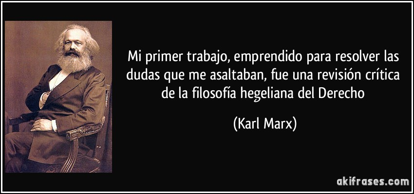 filosofia para marx: