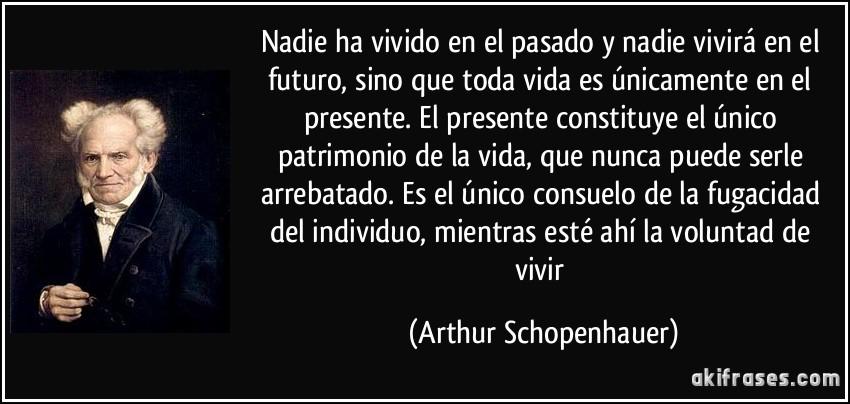 Nadie Ha Vivido En El Pasado Y Nadie Vivirá En El Futuro