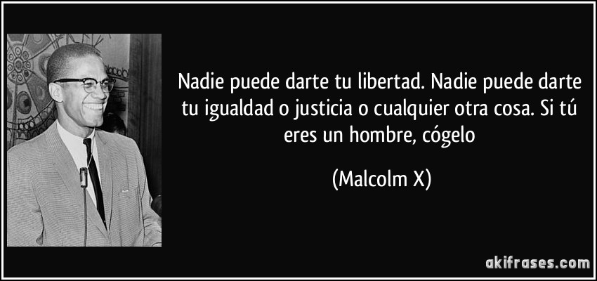Espero y espero, esperando al paraiso, espero - Página 2 Frase-nadie-puede-darte-tu-libertad-nadie-puede-darte-tu-igualdad-o-justicia-o-cualquier-otra-cosa-si-malcolm-x-150511
