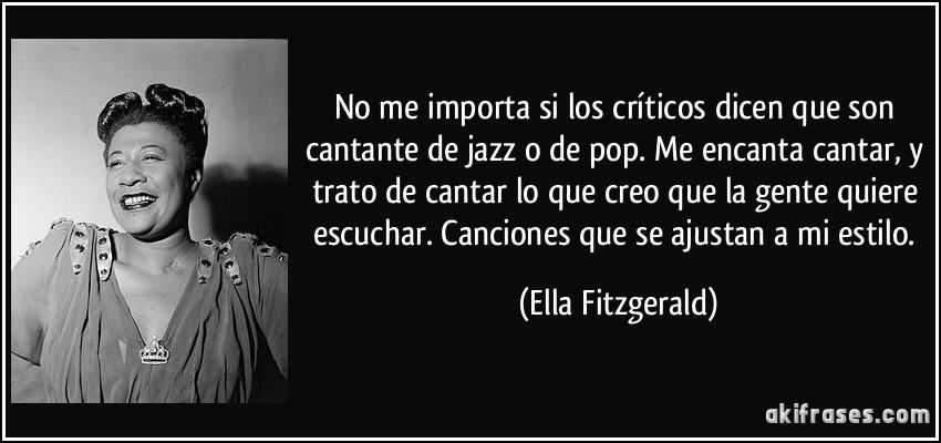 No Me Importa Si Los Críticos Dicen Que Son Cantante De Jazz
