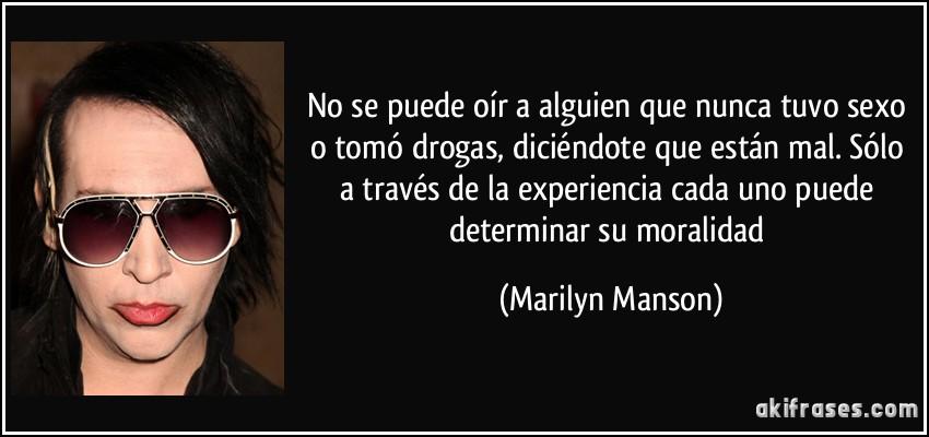 Marilyn manson sexo oral