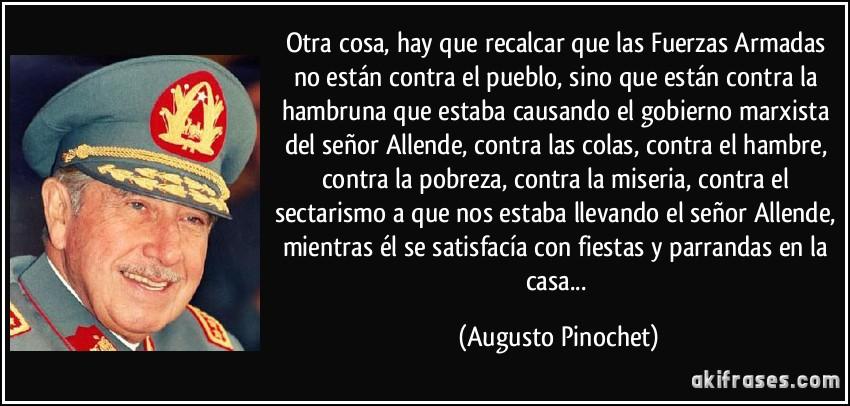 ¿Que cosas buenas hizo Pinochet por Chile? (Mi general)