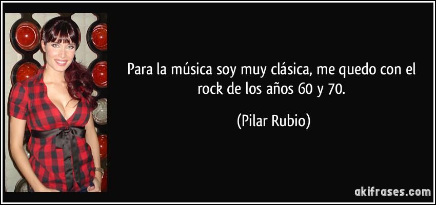 Para La Música Soy Muy Clásica Me Quedo Con El Rock De Los