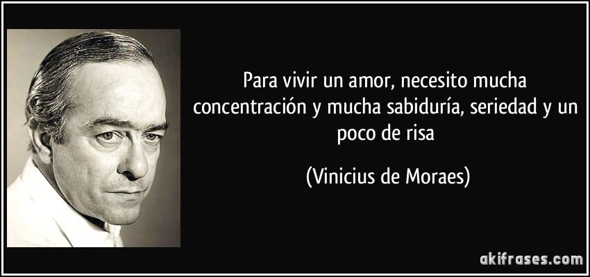 Para Vivir Un Amor Necesito Mucha Concentración Y Mucha