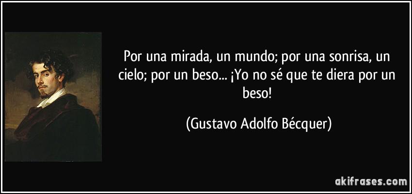 Gustavo Adolfo BecQuer por un beso