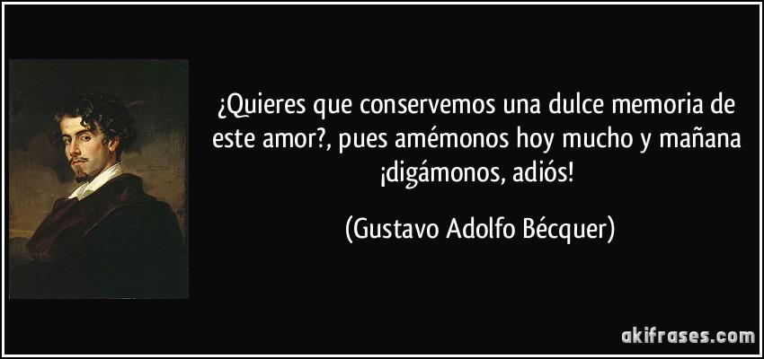 Gustavo Adolfo BecQuer frases de amor