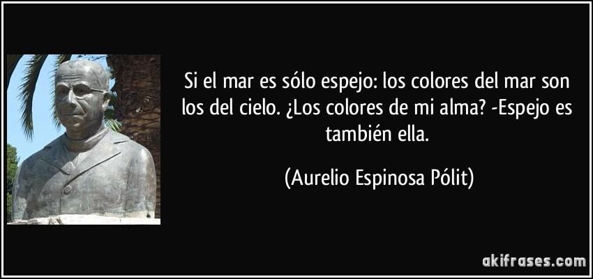 Si el mar es s lo espejo los colores del mar son los del - De que color es un espejo ...