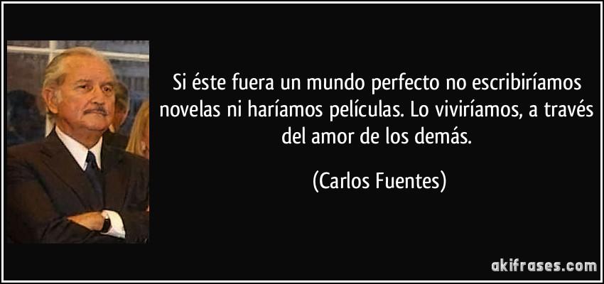 Si ste fuera un mundo perfecto no escribir amos novelas ni for Fuera de este mundo pelicula