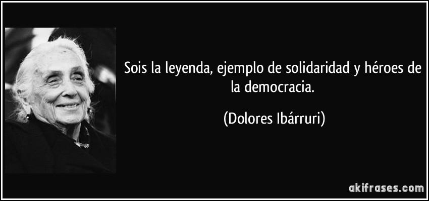 Sois La Leyenda Ejemplo De Solidaridad Y Héroes De La