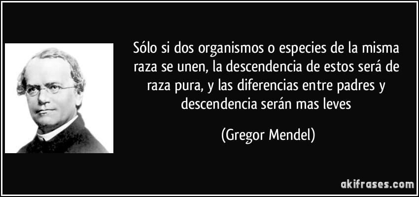Gregor Mendel Frases Celebres