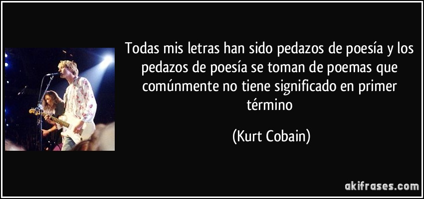poemas de kurt cobain