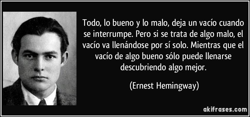 Frases De Hemingway Sobre O Amor Gong Syimo